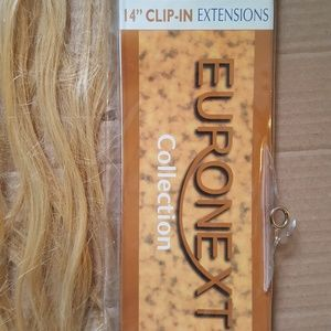 Euronext 14 Inch Extensions Blonde Frost color